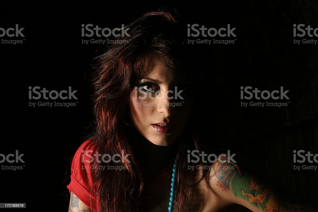 Daughter of darkness royalty-free stock photo