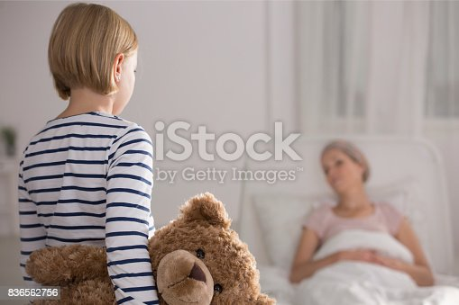 637119208 istock photo Daughter visiting mother in hospice 836562756