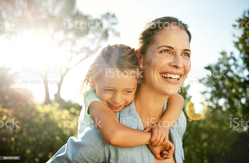 Töchter sind die Sonne des Lebens - Lizenzfrei Alleinerzieherin Stock-Foto