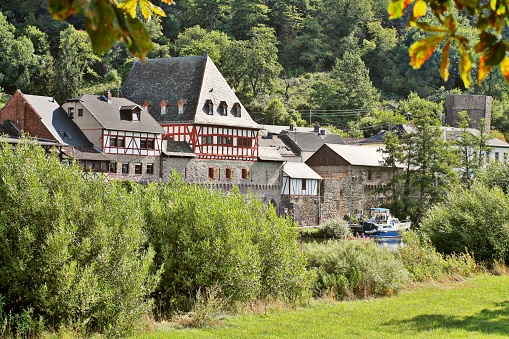 Dausenau, idyllic village on river Lahn in Germany.