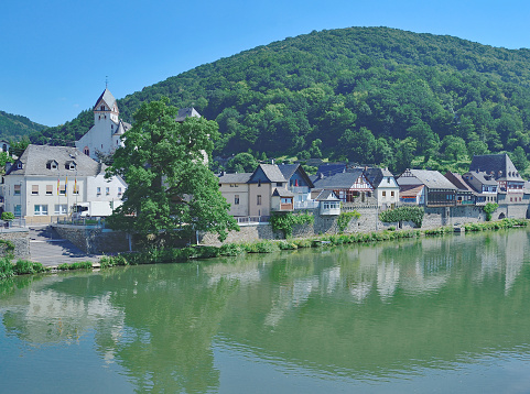 Dausenau,Lahn River,Westerwald,Germany