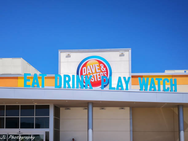 Dave & Buster's  restaurant in Oakville, Ontario,Canada stock photo