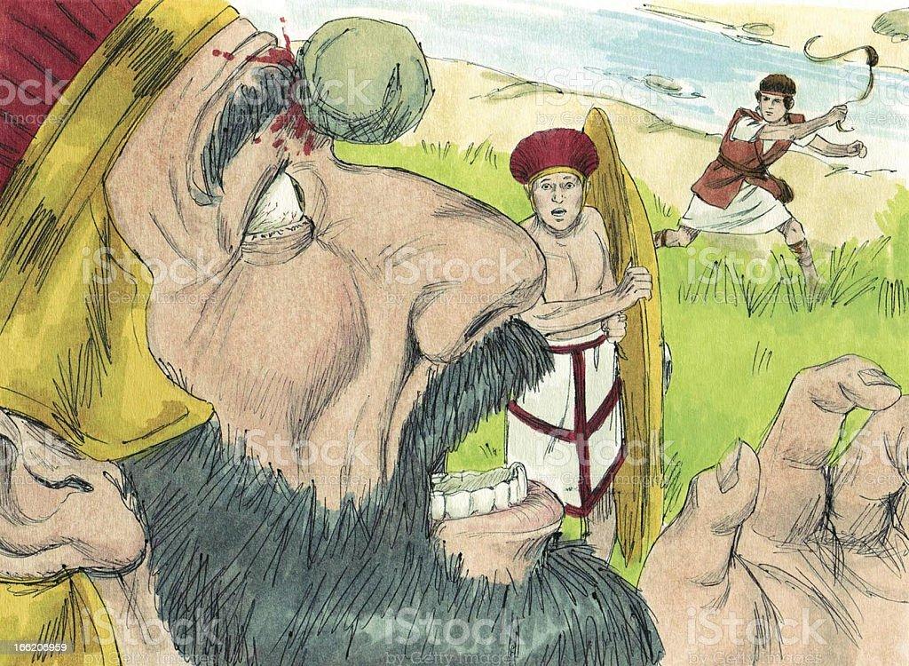 David and Goliath royalty-free stock photo