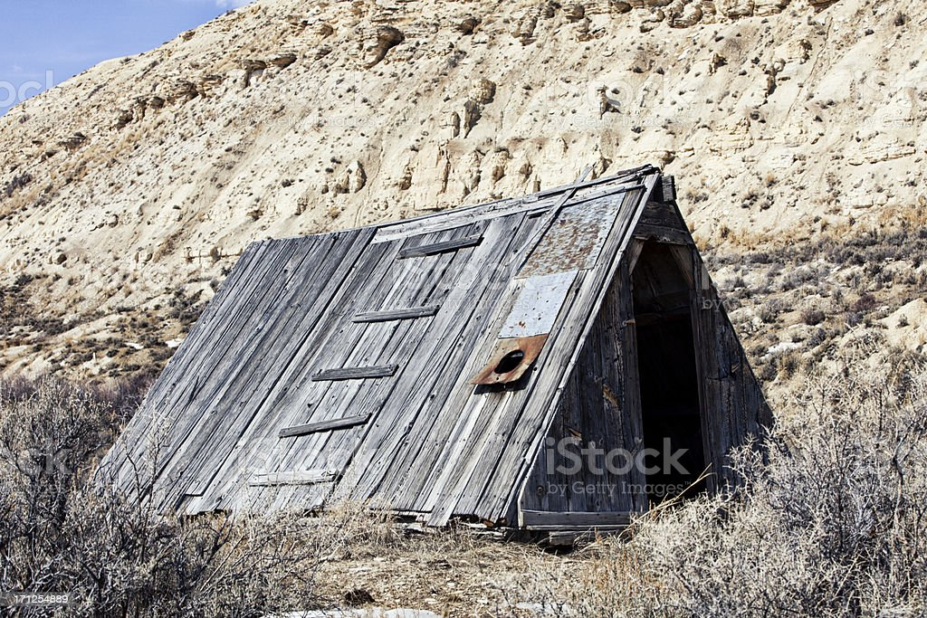 David C. Haddenham Cabin - Fossil Butte National Monument stock photo