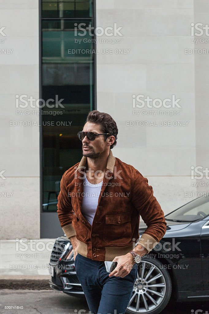 David Gandy attending London Collections Men SS16 stock photo
