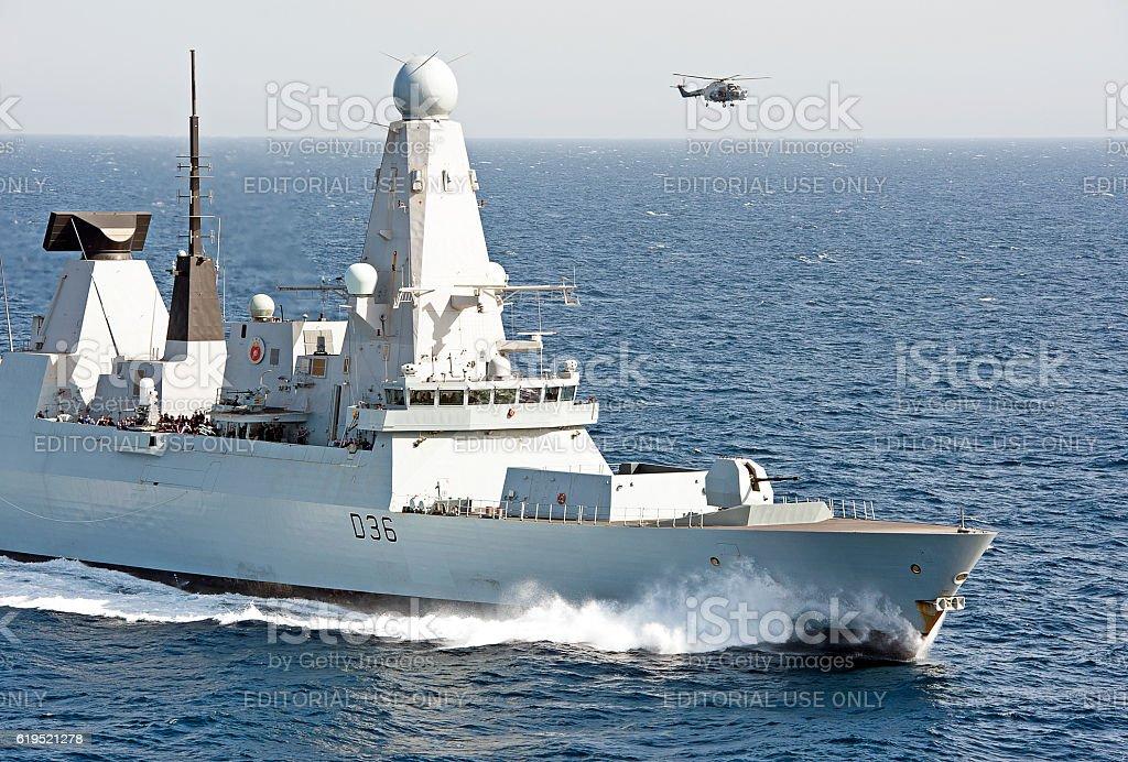 David & Goliath, Arabian Sea stock photo