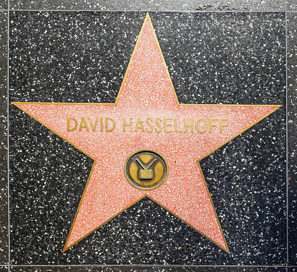 david hasselhoff's stern auf hollywood walk of fame - david hasslehoff stock-fotos und bilder