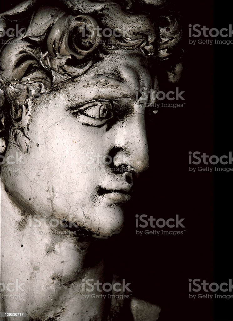 David in thought royalty-free stock photo