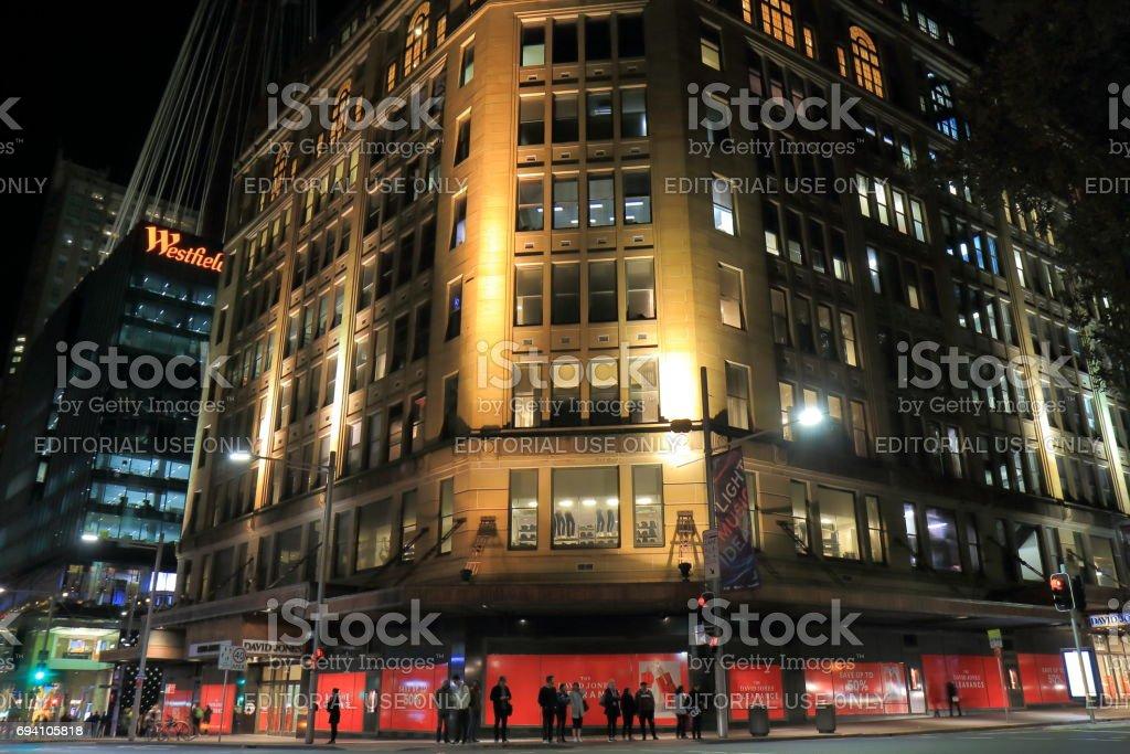 David Jones department store Sydney Australia stock photo