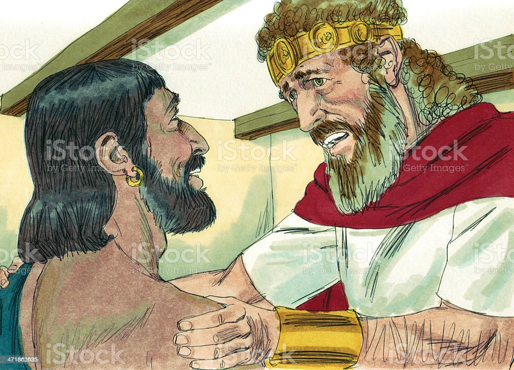 David Learns of Absalom's Death royalty-free stock photo