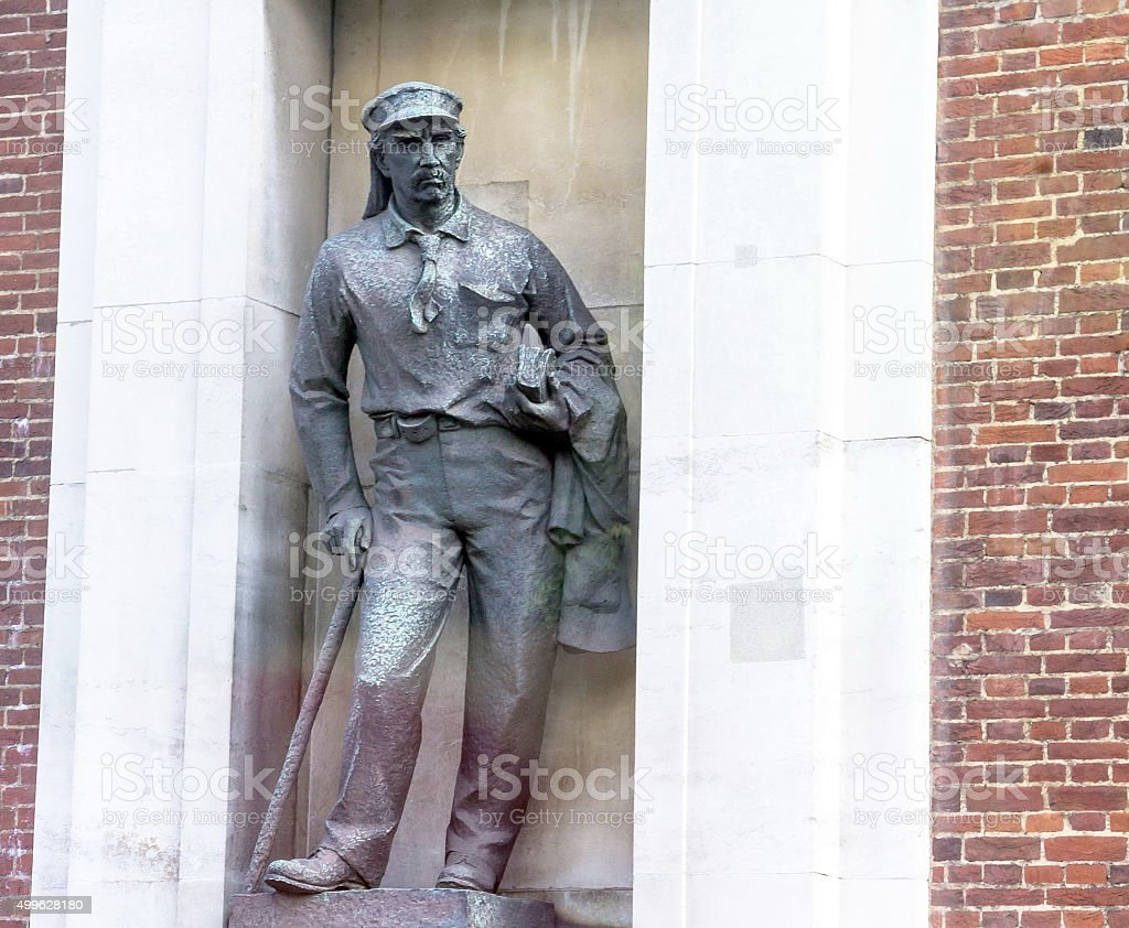 David Livingstone Sculpture in London stock photo