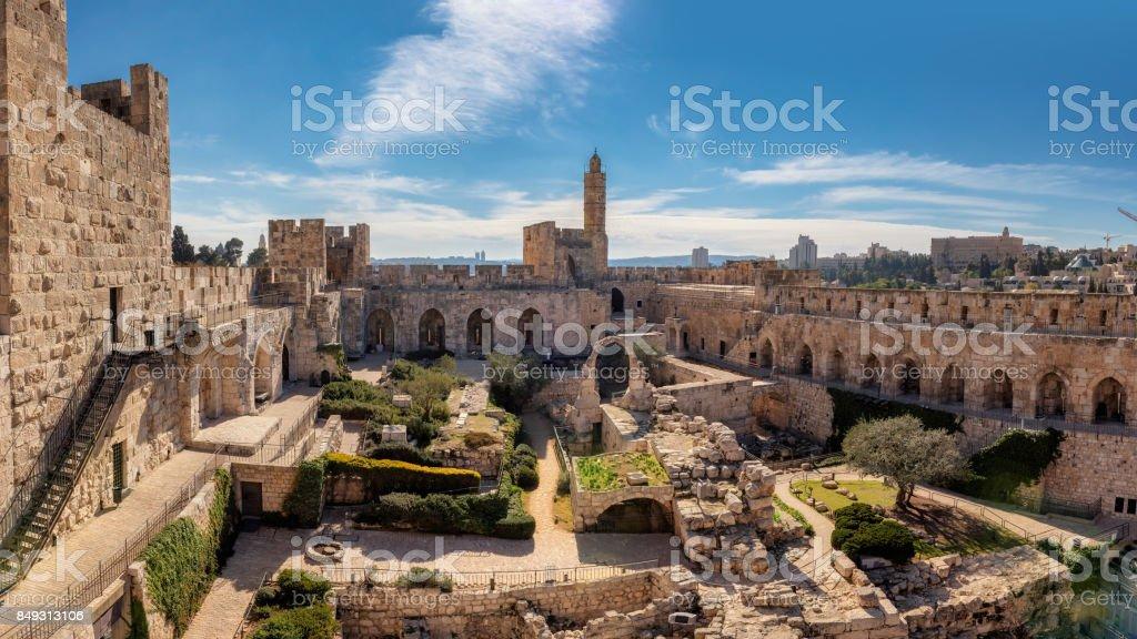 David tower in Jerusalem Old City stock photo