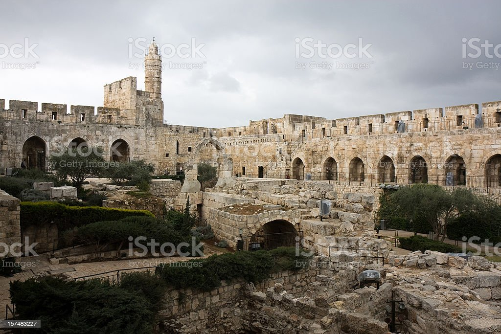 David Tower, Old Jerusalem stock photo