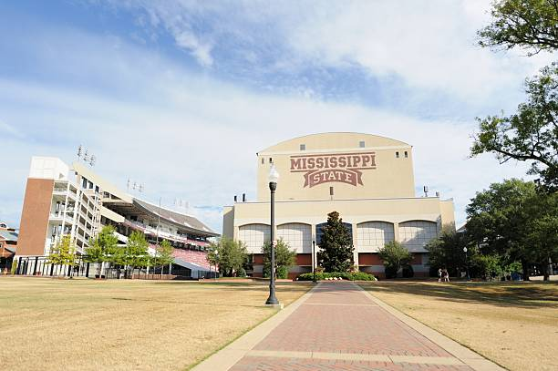 Davis Wade Stadium at MSU stock photo