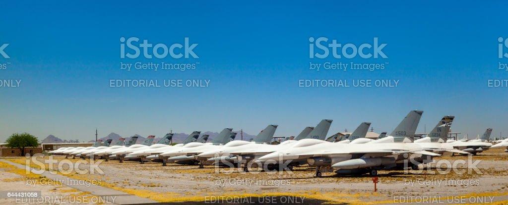 Davis-Monthan Air Force Base AMARG boneyard in Tucson, Arizona – zdjęcie