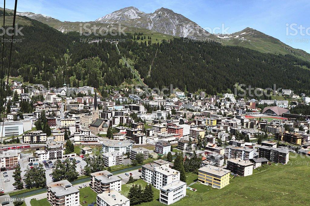 Davos, Graubünden, Switzerland stock photo