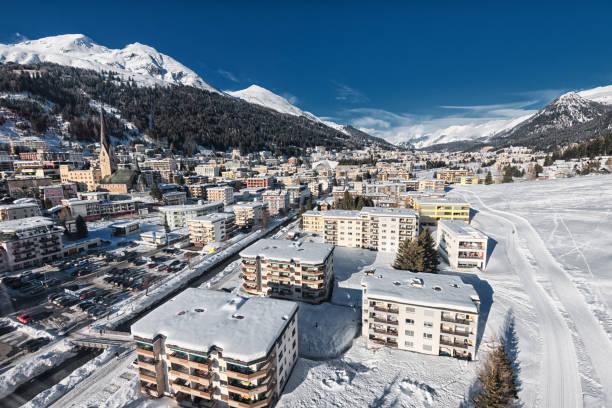 Davos in Switzerland stock photo