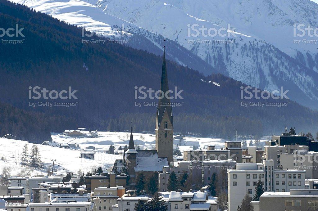 Davos town view royalty-free stock photo