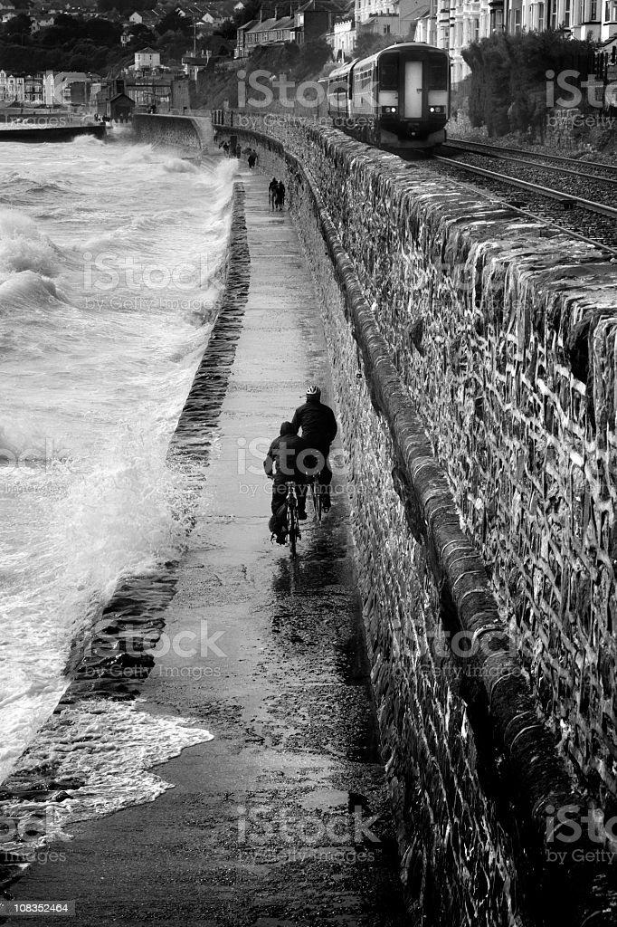 Dawlish Storm royalty-free stock photo