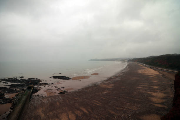 Dawlish Warren beach in Devon stock photo
