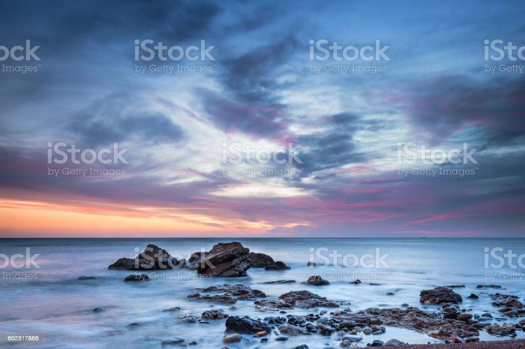 Dawn at Chemical Beach stock photo
