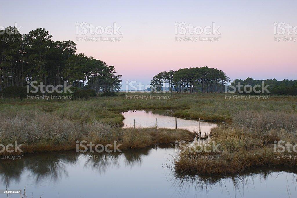 Dawn at Chincoteague Island 2 royalty-free stock photo