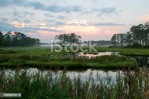 Dawn at Chincoteague Island, Virginia, USA