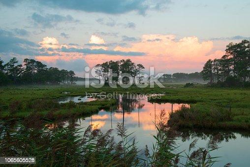 Dawn at Chincoteague Island, Virginia, USA