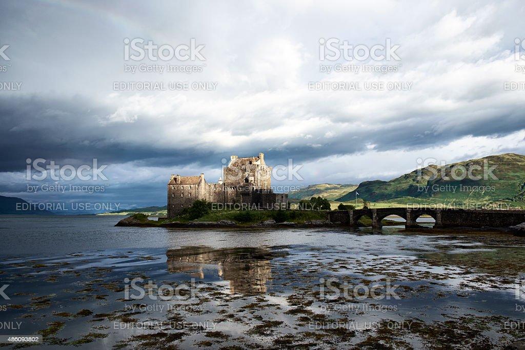 Dawn At Eileen Donan Castle stock photo