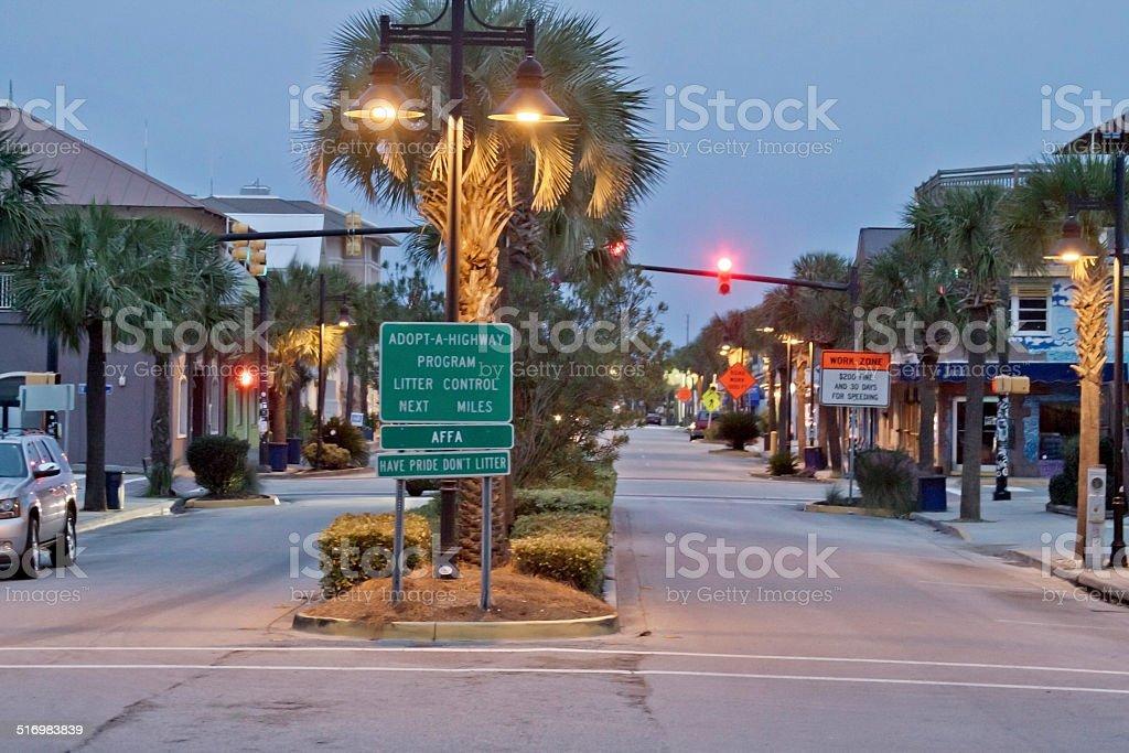 Dawn At Folly Beach, SC stock photo