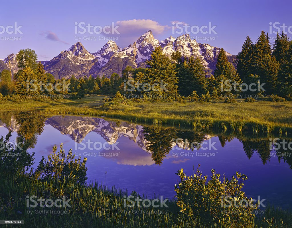 Dawn At Grand Teton National Park royalty-free stock photo
