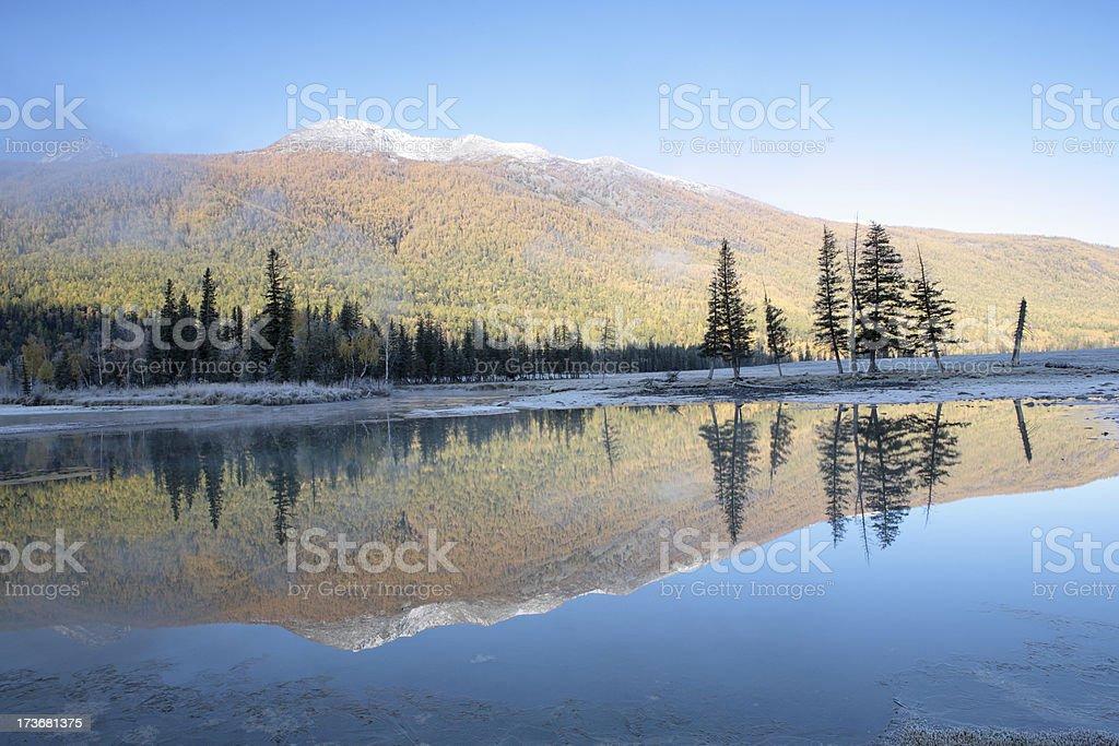 Dawn at Kanas river royalty-free stock photo