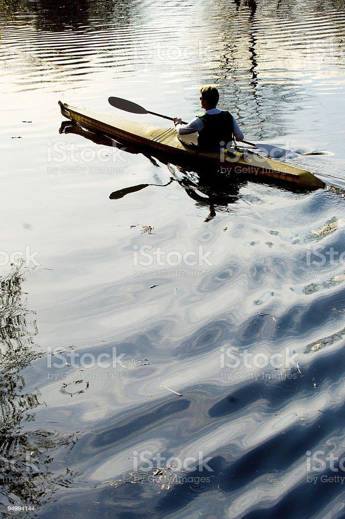 Dawn at lake royalty-free stock photo
