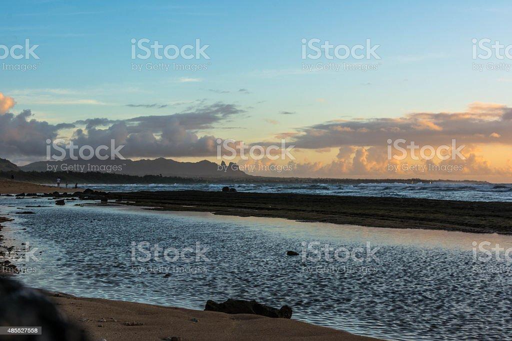 Dawn at Lihue, Kauai, Hawaii stock photo