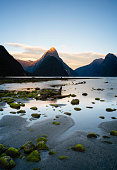 The spectacular landscape around Mitre Peak and Milford Sound, in the Fiordland National Park on New Zealand's South Island.