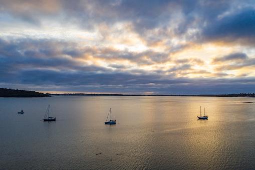 Dawn at Moulting Bay of St Helens of Tasmania, Australia.