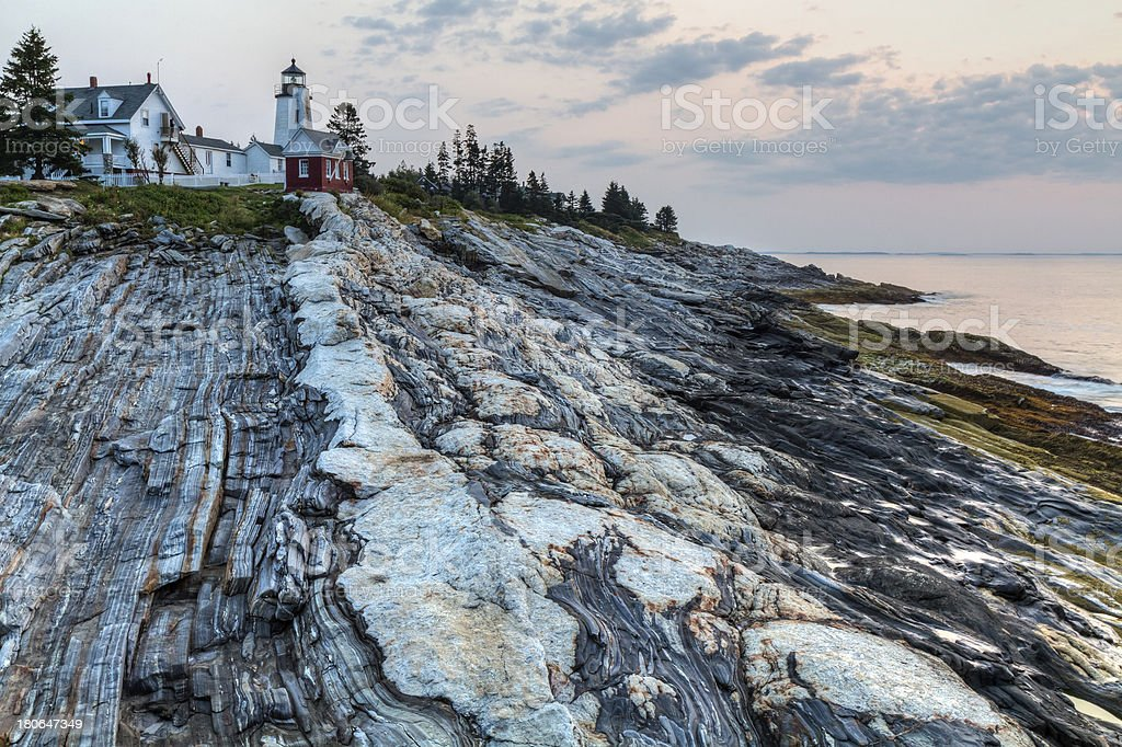 Dawn at Pemaquid Point royalty-free stock photo