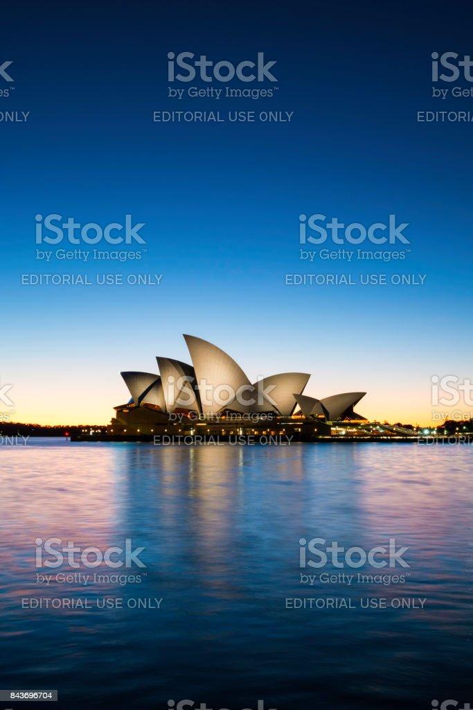Dawn At Sydney Opera House, Australia stock photo