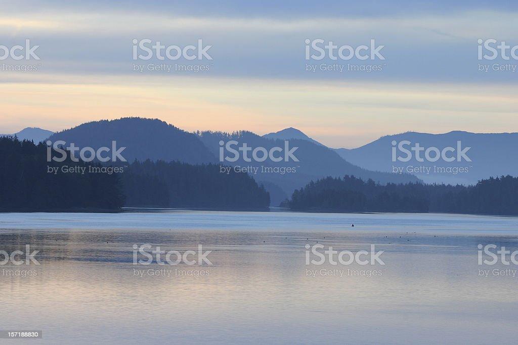 Dawn at Tofino stock photo