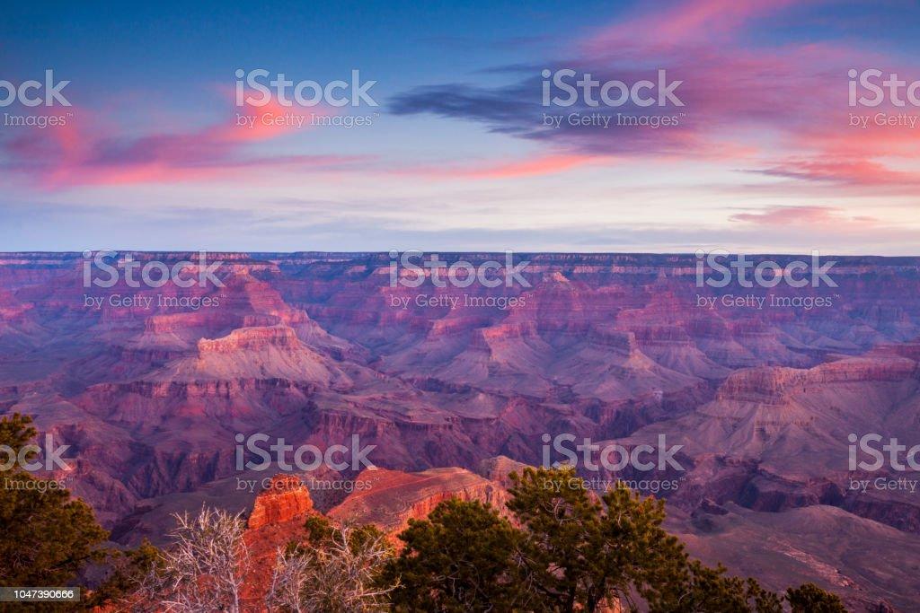 Dawn at Yaki Point Dawn at Yaki Point  on the Grand Canyon's South Rim Arizona Stock Photo
