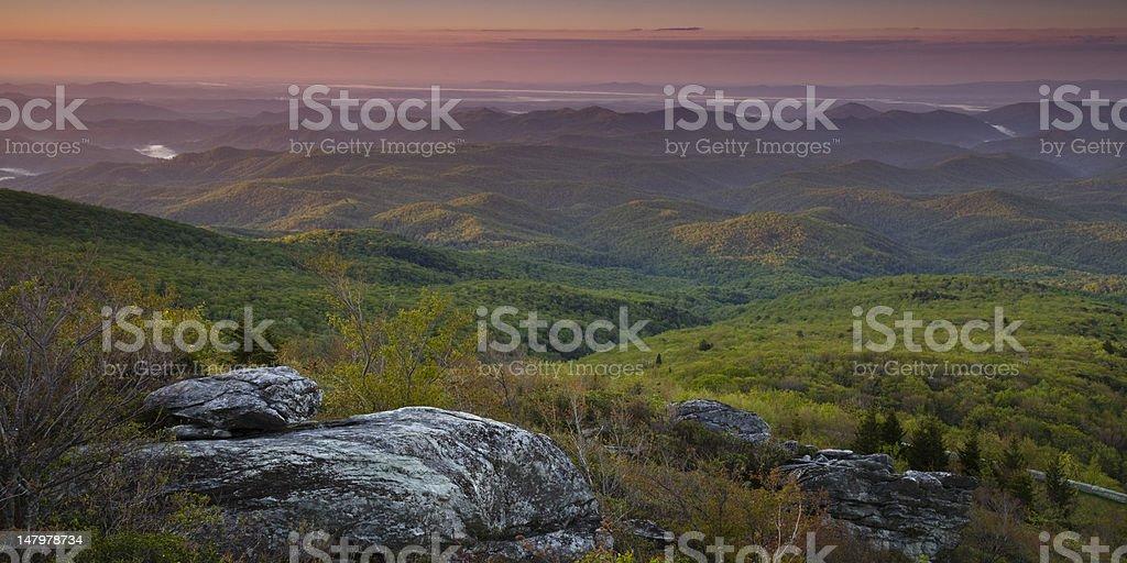 Dawn Blue Ridge Panorama royalty-free stock photo