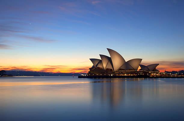 Dawn Breaks Over The Sydney Opera House stock photo