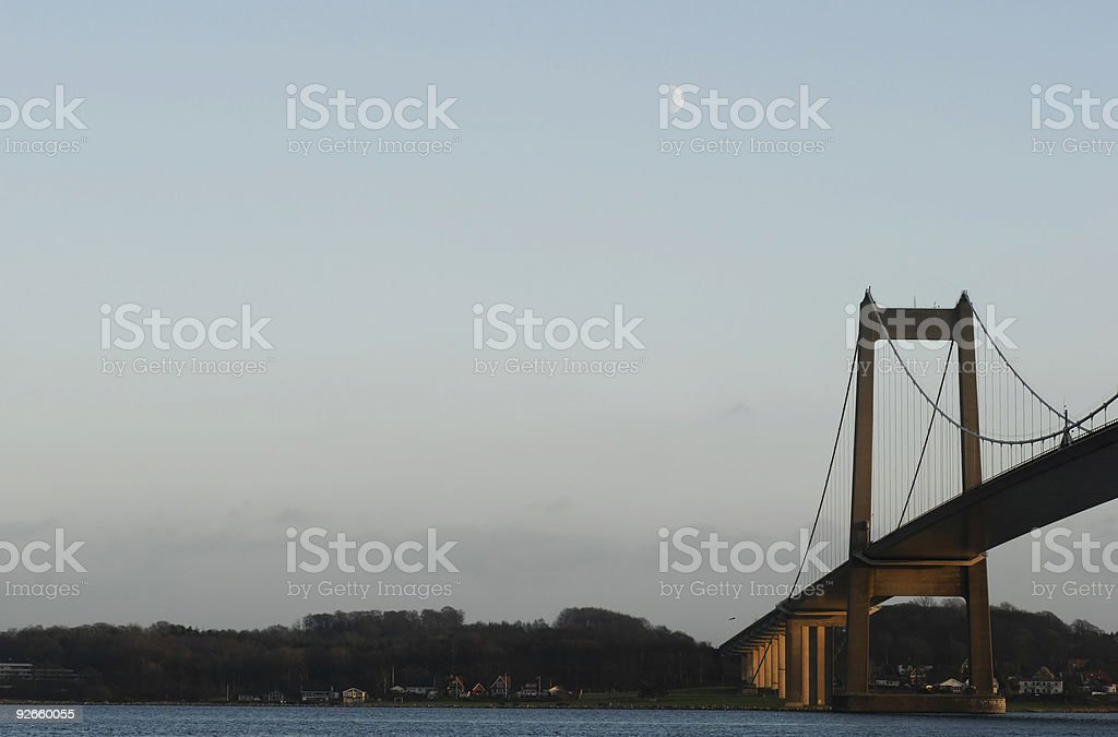 Dawn bridge royalty-free stock photo