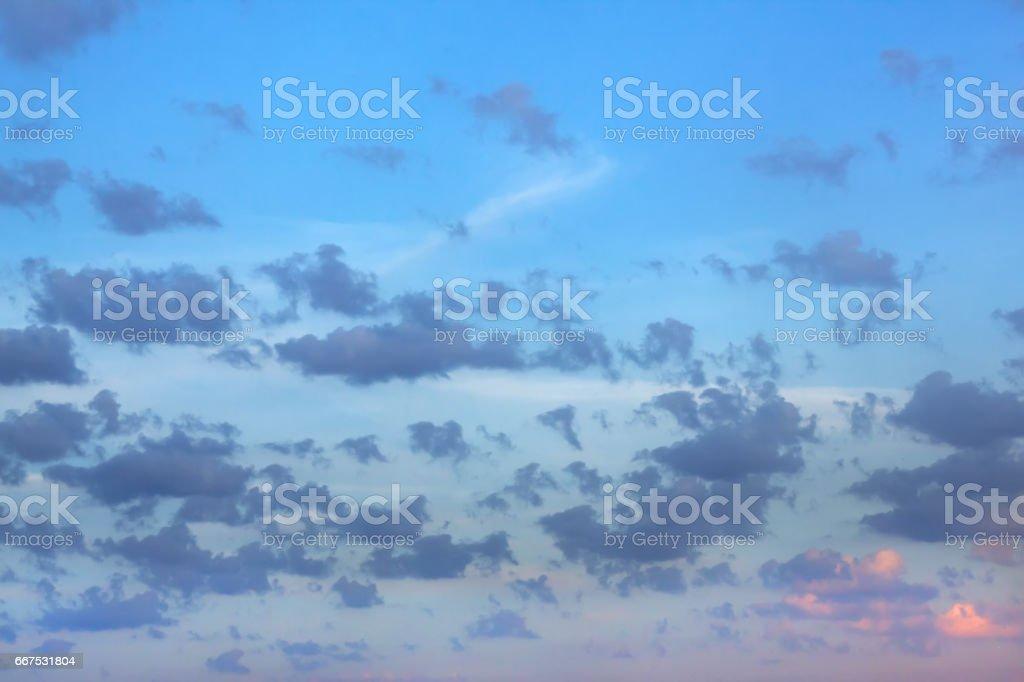 Dawn. Clouds. foto stock royalty-free