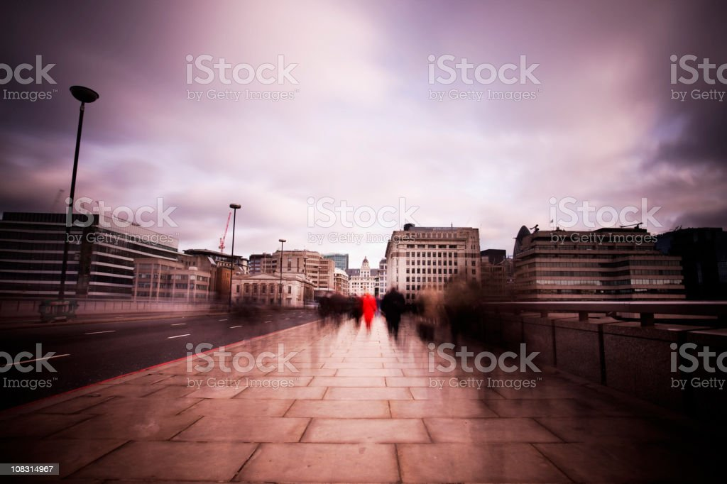 Dawn commute royalty-free stock photo