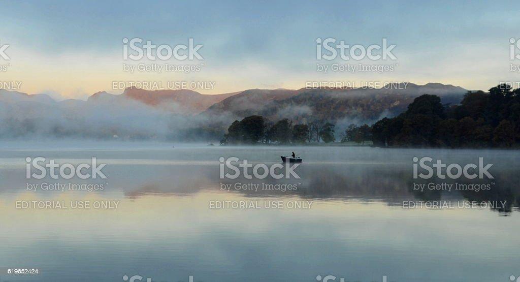 Dawn fisherman stock photo
