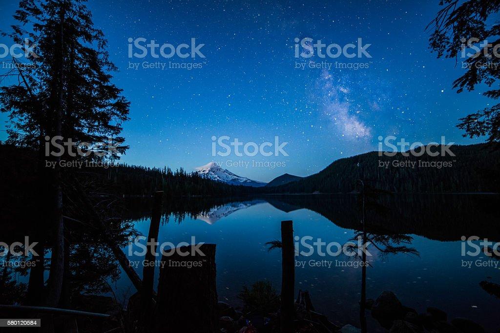 Dawn Hour Star Burst stock photo