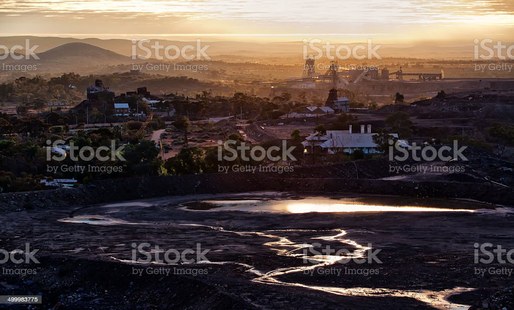 Dawn in Broken Hill, Australia stock photo