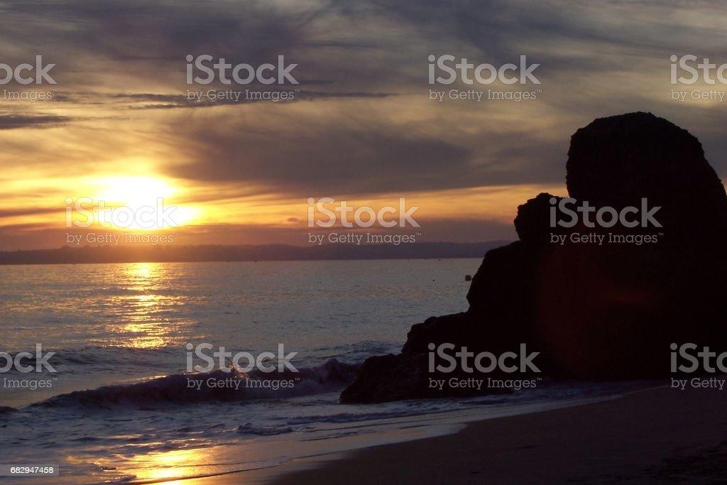 Dawn in Fuerteventura royalty-free stock photo