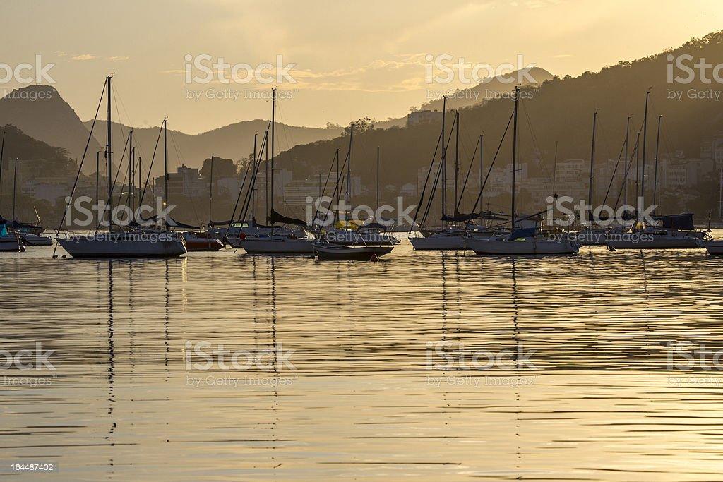 Dawn in Guanabara bay royalty-free stock photo
